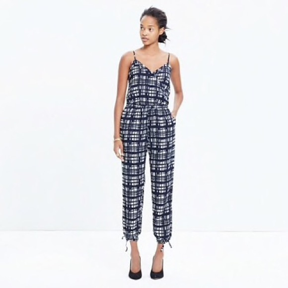 a92e17eed9e1 Madewell Pants - Madewell Faux Wrap Cami Jumpsuit in Brushstroke